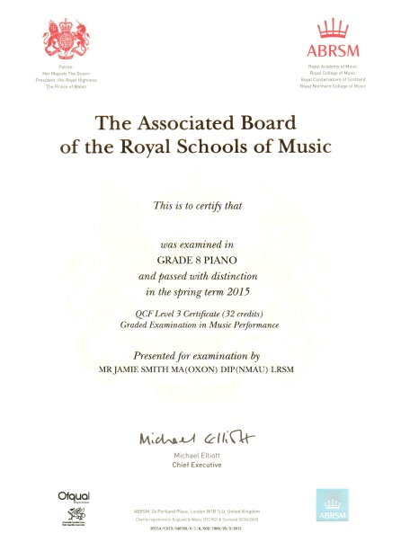 Kai certificate ed Grade 8